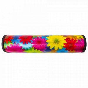 "Пенал-косметичка BRAUBERG, с эффектом 3D, пластик, ""Цветы"", 22х10х5 см, 227301"