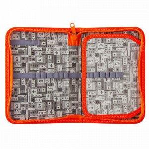 Пенал BRAUBERG, 1 отделение, 1 откидная планка, ламинированный картон,19х13 см, Лисички, 228254