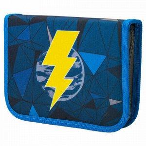 """Пенал TIGER FAMILY 1 отделение, 1 откидная планка, ткань, """"Lightning Power"""", 20х14х4 см, 228892, TGNQ-047C1E"""