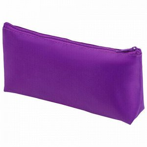 Пенал-косметичка ПИФАГОР на молнии, текстиль, фиолетовый, 19х4х9 см, 229003