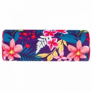"""Пенал-тубус BRAUBERG, с эффектом Soft Touch, мягкий, """"Flower"""", 22х8 см, 229015"""