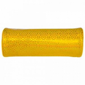 "Пенал-тубус BRAUBERG, мягкий, ""Glitter Gold"", 20х7х7 см, 229016"