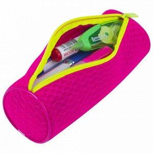 "Пенал-тубус BRAUBERG, сетка, ""Neon"", розовый, 21х8х8 см, 229024"