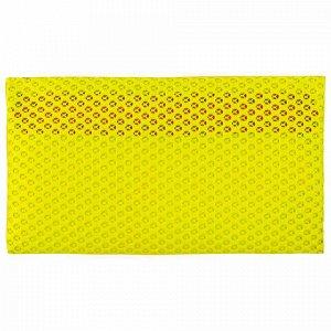 """Пенал-косметичка BRAUBERG, сетка, """"Neon"""", желтый, 23х14 см, 229026"""