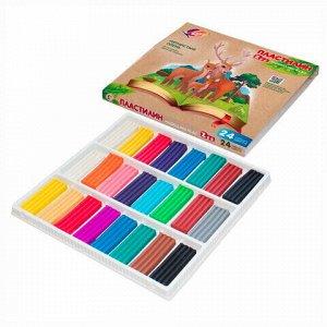"""Пластилин классический ЛУЧ """"Zoo"""", 24 цвета, 360 г, картонная коробка, 30С 1809-08"""