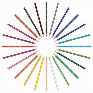 """Карандаши цветные BIC """"Kids ECOlutions Evolution"""", 24 цвета, пластиковые, заточенные, европодвес, 937515"""