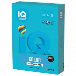 Бумага цветная IQ color, А4, 80 г/м2, 100 л., интенсив, светло-синяя, AB48