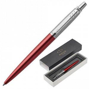 """Ручка шариковая PARKER """"Jotter Core Kensington Red CT"""", корпус красный, хромированные детали, синяя, 1953187"""
