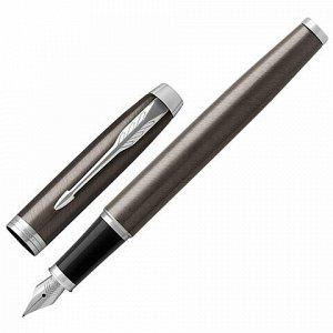 """Ручка перьевая PARKER """"IM Core Dark Espresso CT"""", корпус кофейный лак, хромированные детали, синяя, 1931650"""
