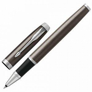 """Ручка-роллер PARKER """"IM Core Dark Espresso CT"""", корпус кофейный лак, хромированные детали, черная, 1931664"""