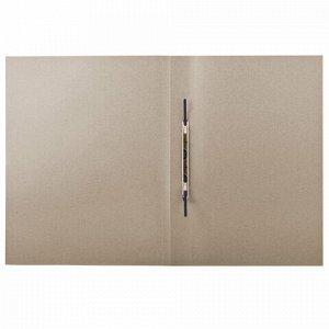 Скоросшиватель картонный BRAUBERG, плотный картон, белый, до 200 листов, 127821
