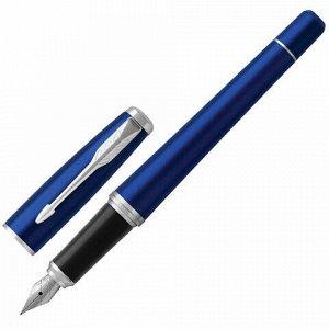 """Ручка перьевая PARKER """"Urban Core Nightsky Blue CT"""", корпус темно-синий лак, хромированные детали, синяя, 1931598"""