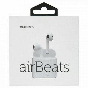 Наушники с микрофоном (гарнитура) RED LINE BHS - 08, Bluetooth, беспроводные, белые, УТ000015583