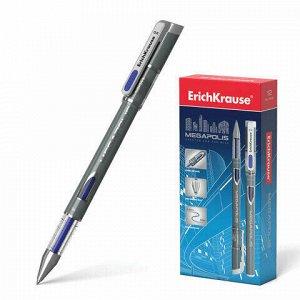"""Ручка гелевая ERICH KRAUSE """"Megapolis Gel"""", СИНЯЯ, корпус с печатью, узел 0,5 мм, линия письма 0,4 мм, 92"""