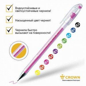 """Ручки гелевые CROWN, НАБОР 10 шт., АССОРТИ, """"Hi-Jell Color"""", узел 0,5 мм, линия письма 0,35 мм, HJR-500SET/10"""