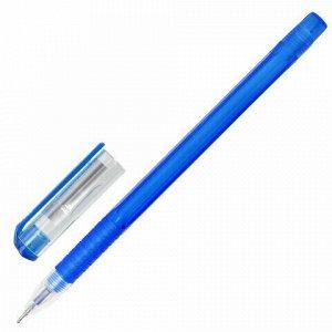 """Ручка гелевая BRAUBERG """"Option"""", СИНЯЯ, корпус тонированный синий, узел 0,6 мм, линия письма 0,35 мм, 143013"""