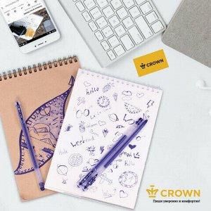 "Ручка гелевая CROWN ""Multi Jell"", СИНЯЯ, узел 0,4 мм, линия письма 0,2 мм, MTJ-500"