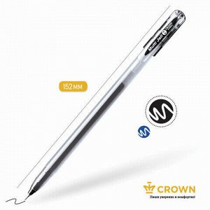 "Ручка гелевая CROWN ""Multi Jell"", ЧЕРНАЯ, узел 0,4 мм, линия письма 0,2 мм, MTJ-500"