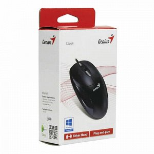 Мышь проводная оптическая GENIUS XScroll V3, USB, 2 кнопки + 1 колесо-кнопка, чёрный, 31010233100