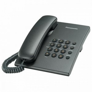 Телефон PANASONIC KX-TS2350RUT, титан, повторный набор, тональный/импульсный режим