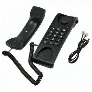 Телефон RITMIX RT-007 black, световая индикация звонка, мелодия удержания, черный, 15118345