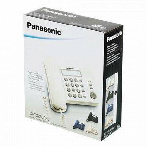 Телефон PANASONIC KX-TS2352RUB, черный, память 3 номера, повторный набор, тональный/импульсный режим, индикатор вызова
