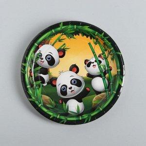 Тарелка бумажная «Панды», набор 10 шт.