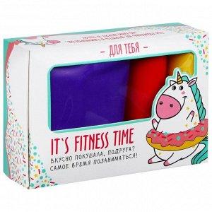 Фитнес набор Fitness time: лента-эспандер, набор резинок, инструкция, 10,3 ? 6,8 см