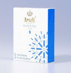Супертонкие презервативы AMOR Thin для наибольшей чувствительности и естественных ощущений(3шт)