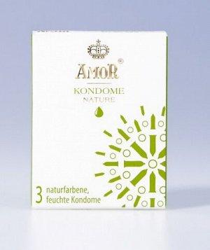 Классические презервативы AMOR Nature. Гладкие, бесцветные, без запаха (3шт)