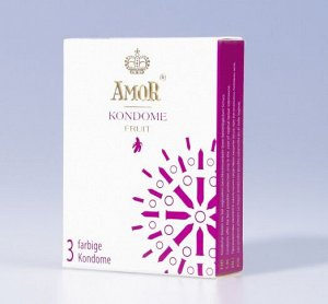 Коллекция презервативов AMOR Fruit с тонкими ароматами для ярких, красочных впечатлений (3шт)