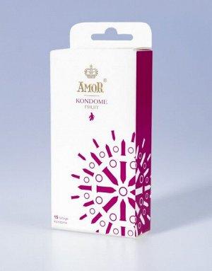 Коллекция презервативов AMOR Fruit с тонкими ароматами для ярких, красочных впечатлений (15шт)