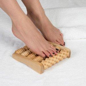 Массажёр для ног «Барабаны», деревянный, 5 комбинированных рядов