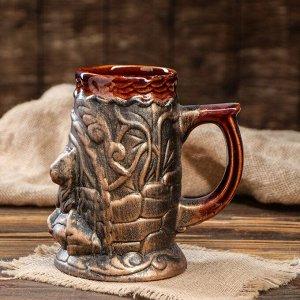"Кружка для пива ""Тигр"" бронза, 0,8 л"