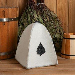 Комплект банный (шляпа,вар,коврик).