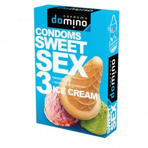 Презервативы для орального секса со смазкой и ароматом мороженого (3шт)