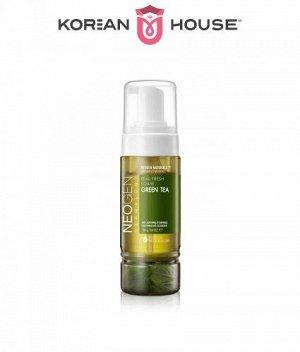 Neogen, Dermalogy Real Fresh Foam Cleanser Green Tea, 160ml / Успокаивающая пенка с зеленым чаем