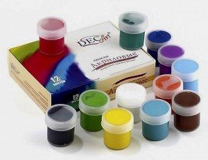 Наборы акриловых красок Dek Art 12 цветов  по  20 мл