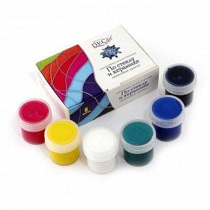 DecArt Краски по стеклу и керамике 6 банок п/э по 20 мл
