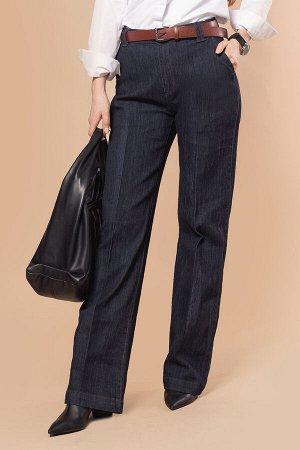 Прямые джинсы - трубы с высокой посадкой из эластичного денима, D54.196