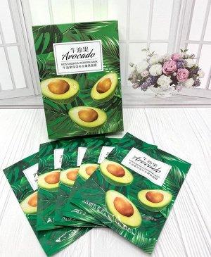 Маска с экстрактом авокадо 10шт