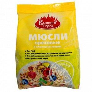 ВГ м/у Мюсли Ореховые 5 злаков со льном 350г (цв.пленка)