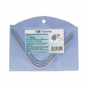 Спицы для вязания изогнутые, длина 20,5см, d4,0мм 3шт