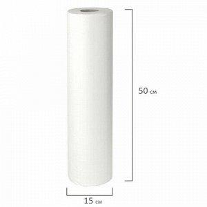 Простыни бумажные рулонные с перфорацией LAIMA UNIVERSAL КОМПЛЕКТ 3 шт., 2-слойные, 0,5х100 м, 17+17 г/м2, 630360, БС-2-ПР/100