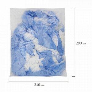 Бахилы КОМПЛЕКТ 100 штук (50 пар), ДВОЙНЫЕ (со стелькой), 39х14 см, 40 мкм, 4 г, ПНД, LAIMA, 630720