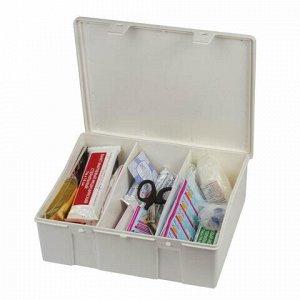 Аптечка первой помощи работникам, до 8 человек, навесной пластиковый футляр, состав - по приказу №169н, 10117