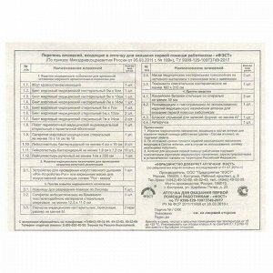 Аптечка первой помощи работникам ФЭСТ, футляр из полистирола, состав - по приказу №169н (футляр 8-2)