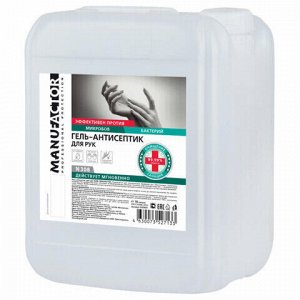 Антисептик-гель для рук спиртосодержащий (спирт 66%-70%) 10 л MANUFACTOR, дезинфицирующий, N30809