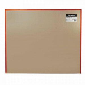 Коврик защитный напольный BRABIX, поликарбонат, 100x120 см, глянец, 1 мм, 604846