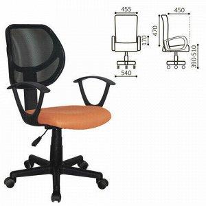 """Кресло компактное BRABIX """"Flip MG-305"""", ткань TW, оранжевое/черное, 531920"""
